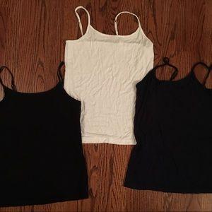 Camisoles- navy, black & white
